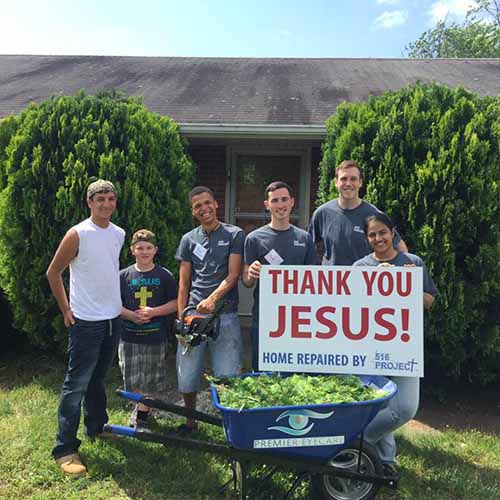 516 Project of Fredericksburg Virginia Youth Ministry help people in need